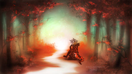 Forest by blakitu