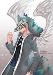 half body for Snow--Wolf by blakitu