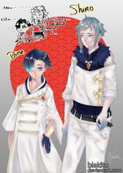 OC_Dine and Shiro by blakitu