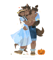 Lok-Halloween Time-The South family by freestarisis