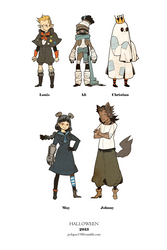 Halloween 2013 character design by freestarisis