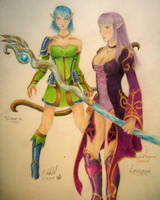 lexenia and sirena by chaosia