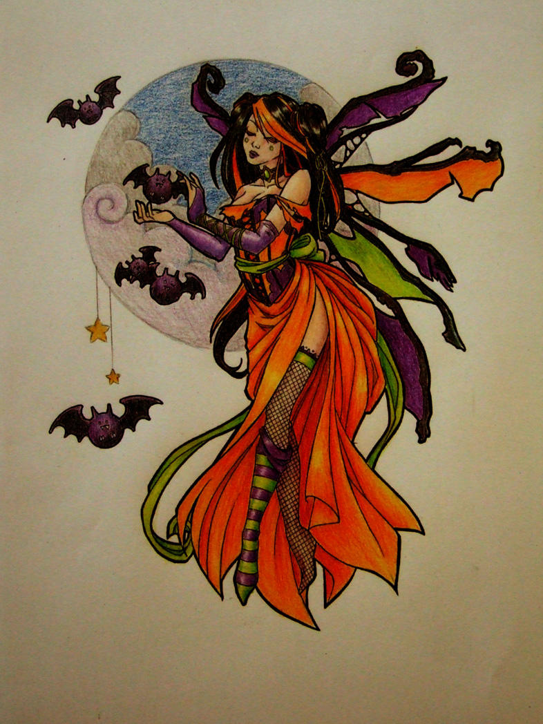 halloween faery by chaosia