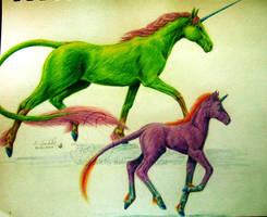 Vivid unicorns by chaosia