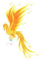 phoenix and orb by chaosia