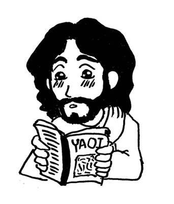 Jesus reads yaoi by frogsuit