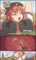 Giantess Meiling caught a thief by Karbo