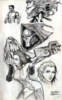 Sketches 7 part 3 Ink by Rayvell