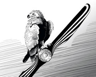 Eagle on Propeller by Bephza
