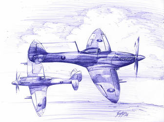 Spitfire MK18 by Bephza