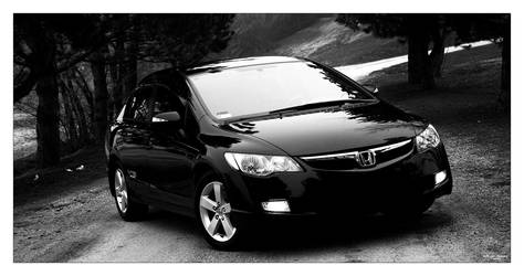 Civic B and W by hellpics