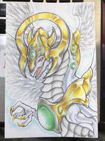 Light End Dragon Commission by waterarceus