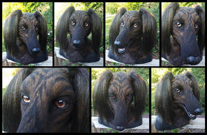 Brindle Saluki Head {{FOR SALE!!}} by KandorinCreations