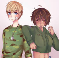 Takeru and Keiko || OC by Mad-Akuma