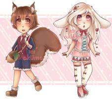Fluffy Animal Adopts [CLOSED] by Mad-Akuma