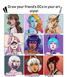 Draw your friend's OCs - Meme by Flesh-Odium