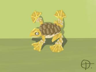 turtle-frog digital painting by TREBJESANINart