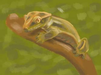 Gecko Painting by TREBJESANINart