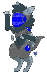 blue screen of death protogen adopt closed by salted-milk
