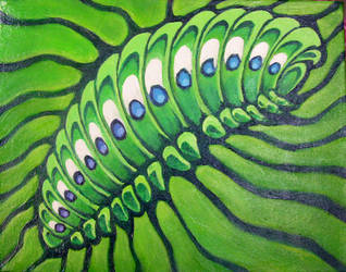 AcrylicPainting4:Caterpillar by KayFedewa