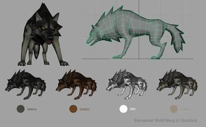 Elemental Warg by KayFedewa