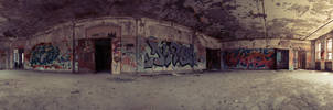 360 Panorama of Room in Abandoned Building by editingninja