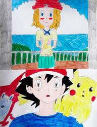 Serena surprising Ash in Alola (request) by HAKDurbin