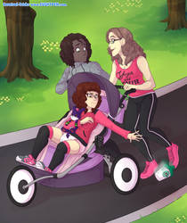 Stroller run by Carnival-Tricks