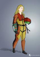 Samus Aran, Fighter Pilot by Archymedius