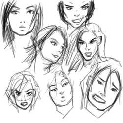 Sketchdump Faces 001 by Archymedius