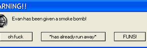 Smoke Bomb Time! by Jennymwwolf