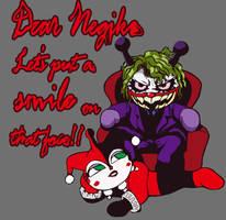 Baikin-Joker  and Harley-Dokin by nulluo