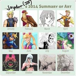 2014 Summary of Art by Los-Chainbird