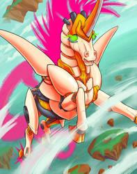 Mecha Unicorn GO by Los-Chainbird