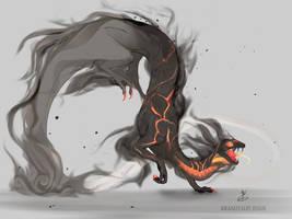 Ashen Dragon by Kamzeia-MS