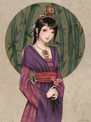 Oriental girl by NPye13