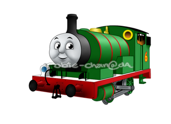 Percy the small green engine by Robie-Chan