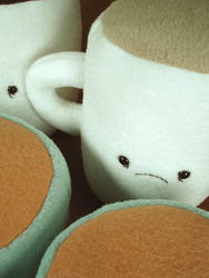 coffee cups, close up by sewingstars