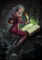 Grimoire writer Eirene by Igor-Grechanyi