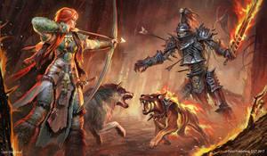 Illustration for Pathfinder RPG. by Igor-Grechanyi