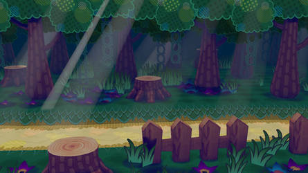 Paper Mario Inspired Scene by CoolAsEiz