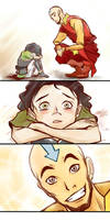 Aang and Lin by SeiraSky