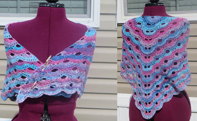 Virus Shawl by Nerds-and-Corsets