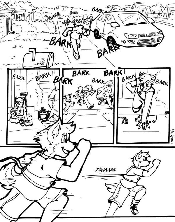 Hunter versus the Tow Truck, Page 1 by Ellen-Natalie