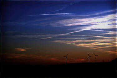 Wind turbines in the evening by PhotoartBK