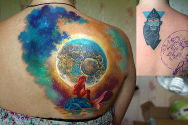 mermaid tattoo by NikaSamarina