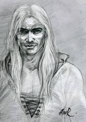 Geralt of Rivia sketch by JustAnoR