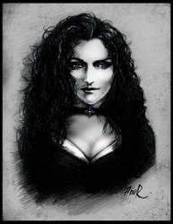 Yennefer by JustAnoR