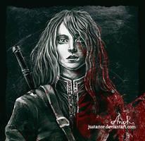 Ciri Sketch by JustAnoR