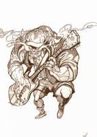 AC DC Angus beast by wotnip